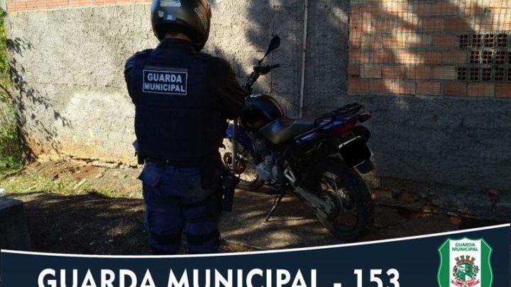 Guarda Municipal recupera motocicleta com registro de furto no Presidente Médici