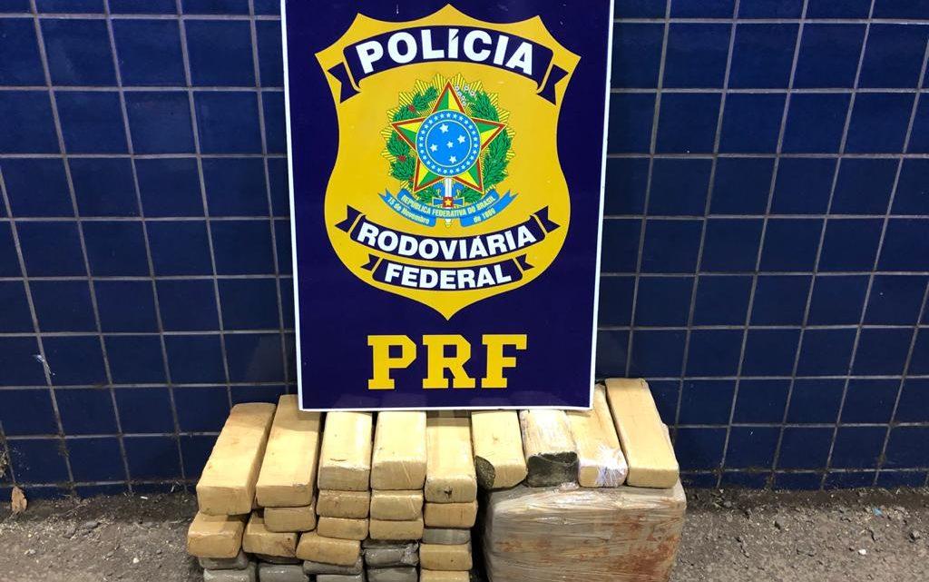 PRF apreende 39kg de maconha em Guaraciaba