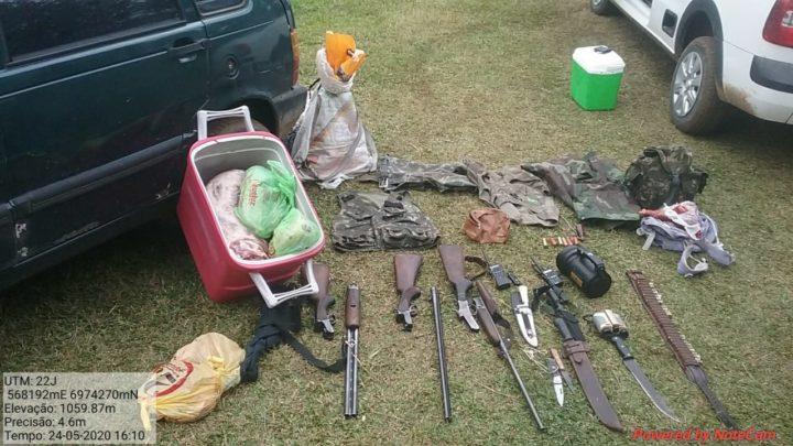 PMA prende indivíduos por posse irregular de arma de fogo, munições e caça de animais silvestres em SC
