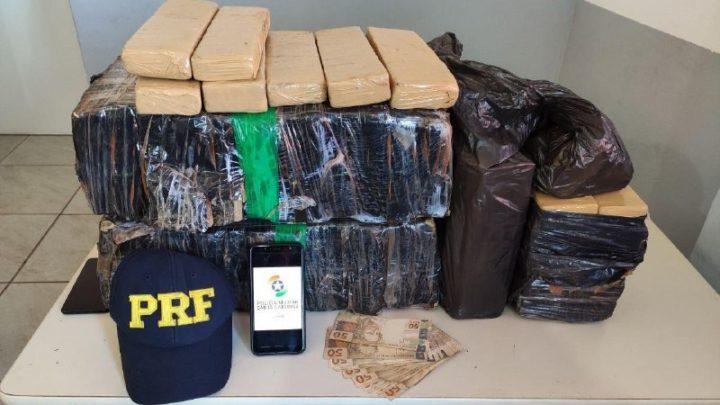 Operação conjunta entre PM e PRF resulta na apreensão de 50kg de maconha em Chapecó