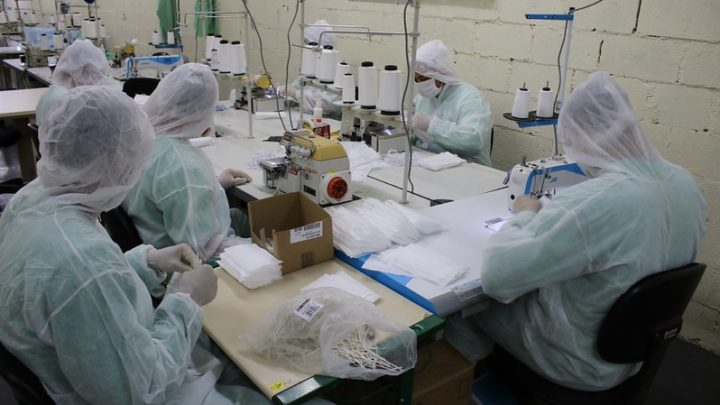 Penitenciária de Chapecó irá produzir 600 mil máscaras descartáveis por mês