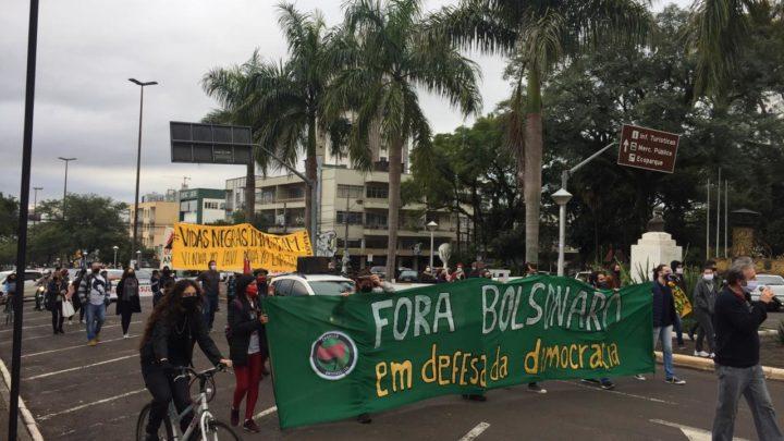 Manifestação contra o governo Bolsonaro é registrada em Chapecó