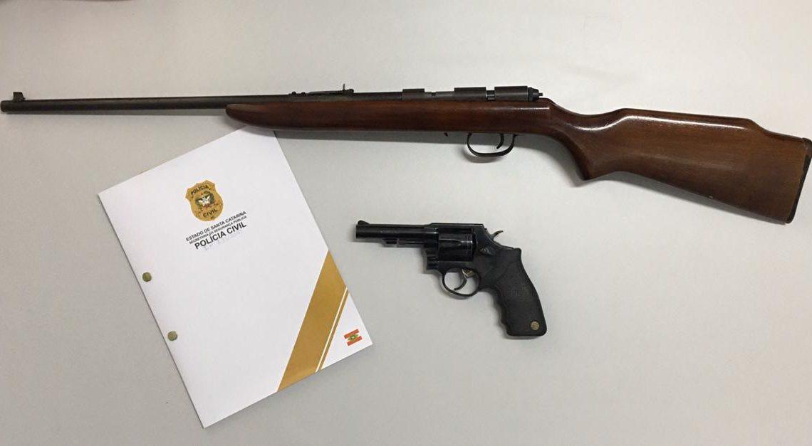 Polícia Civil apreende arma de fogo em Pinhalzinho