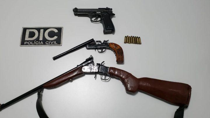 Polícia Civil apreende duas armas de fogo em Guaraciaba e uma em São Miguel do Oeste