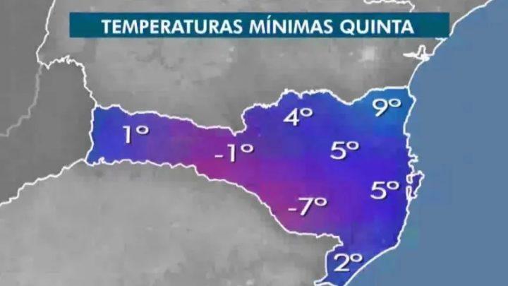 O frio já toma conta de SC; vem aí uma das madrugadas mais frias do ano