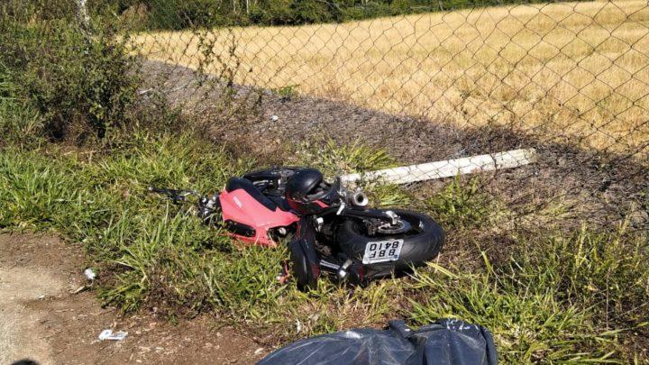 Motociclista de Chapecó morre em grave acidente na SC-157