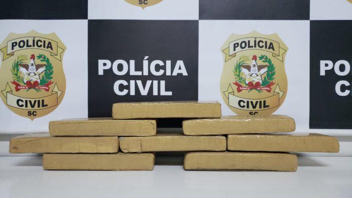 Casal é preso com 6kg de maconha no bairro Bom Pastor em Chapecó
