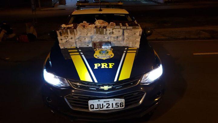 PRF apreende 800 maços de cigarros contrabandeados do Paraguai em Chapecó na BR-480