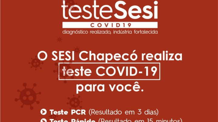 SESI realiza teste para Covid-19 no Oeste