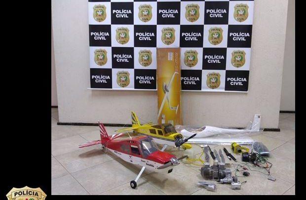 Polícia Civil de Chapecó recupera equipamentos de aeromodelismo avaliados em R$ 26.000