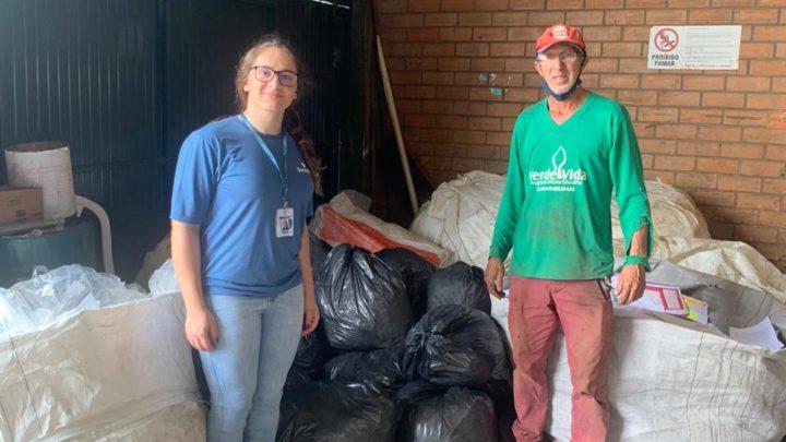 Empresa de Santa Catarina doa mais de uma tonelada de papel para ONG Verde Vida