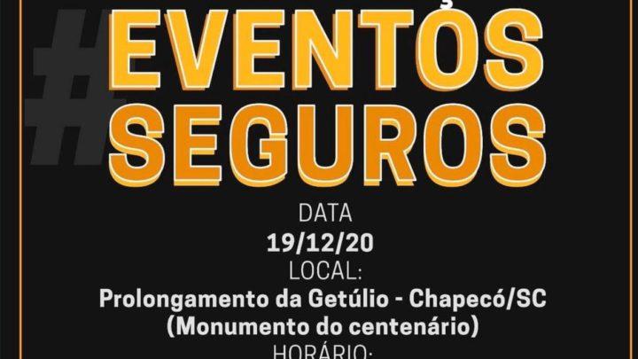 Manifestação a favor dos eventos é organizada por profissionais do setor em Chapecó