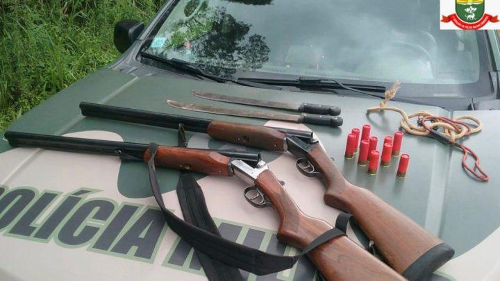Polícia Ambiental flagra caçadores na floresta nacional de Chapecó