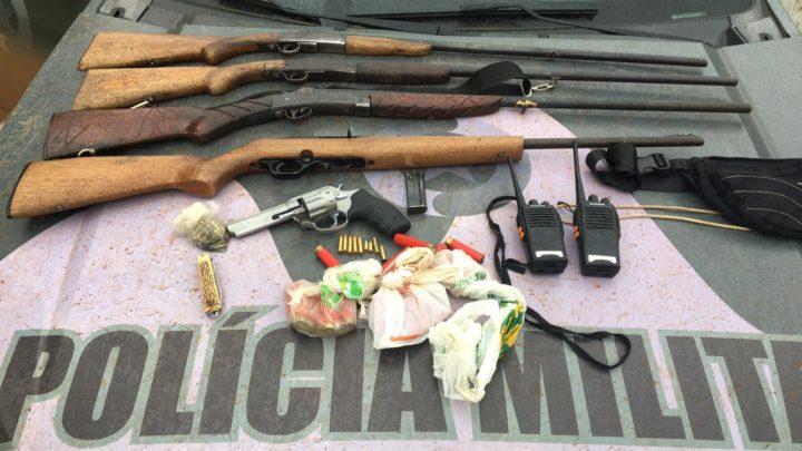 Polícia Ambiental apreende 5 armas de fogo e prende 6 homens por caça ilegal de animais silvestre em SC