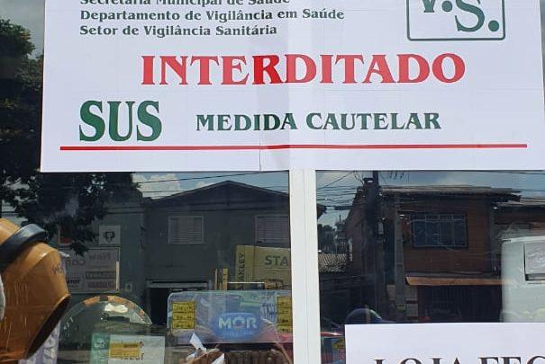 Vigilância Sanitária interdita estabelecimento que descumpriu orientação em Chapecó