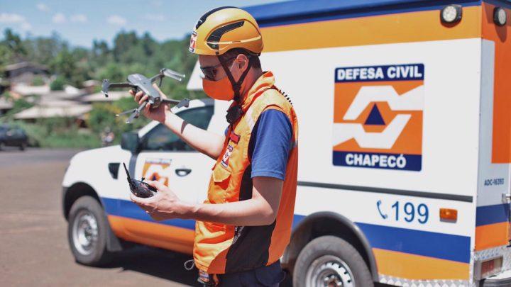 Defesa Civil faz levantamento de pontos de risco em Chapecó