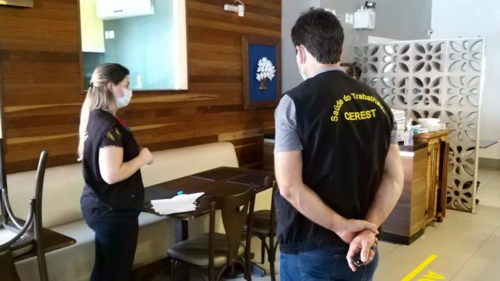 Vigilância realiza fiscalização e orientação de normas de combate à Covid em Chapecó