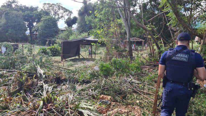 Guarda Municipal flagra invasão em área pública de preservação em Chapecó