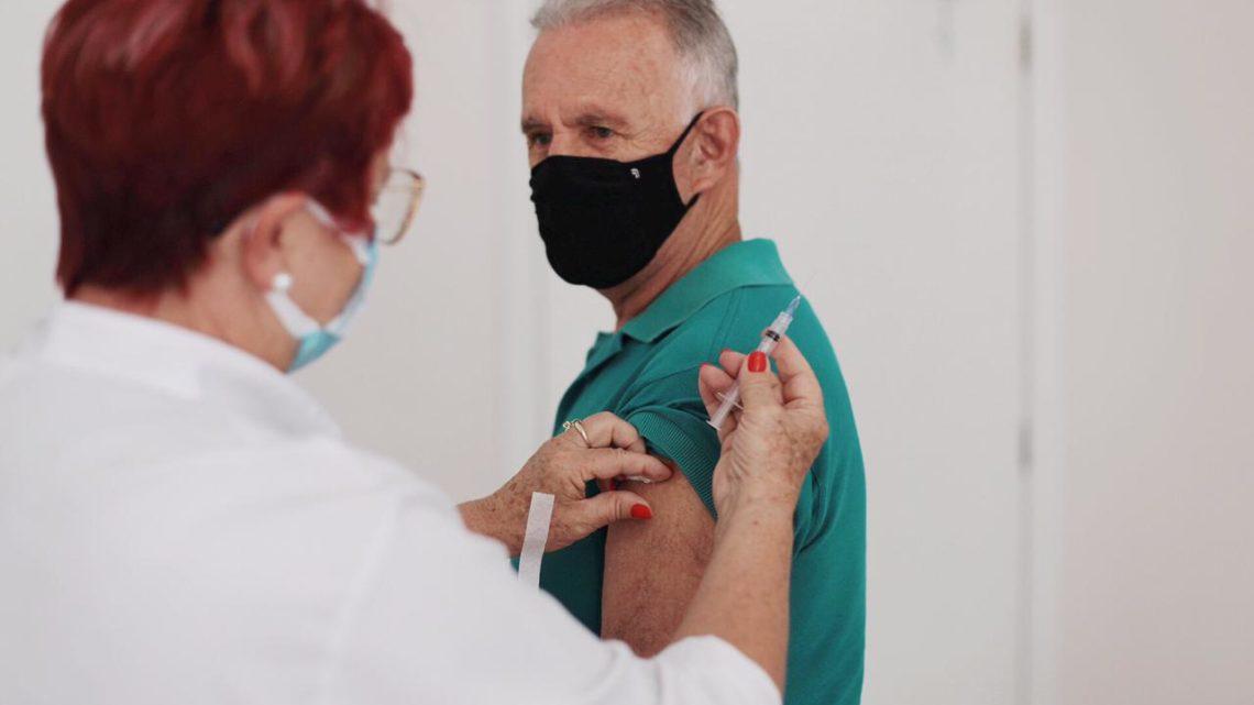 Vacinação para 67 anos será nesta quarta-feira em Chapecó