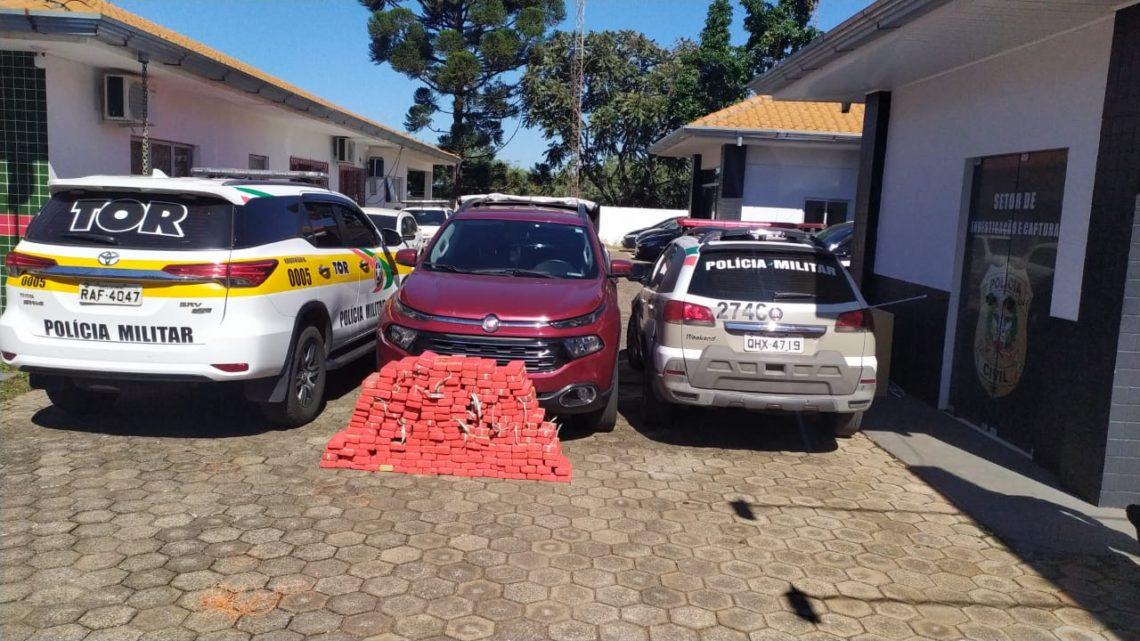 Ação conjunta apreende 150 kg de maconha na SC 160 em Pinhalzinho