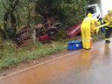 Motorista morre após colisão entre dois caminhões e camionete em Chapecó