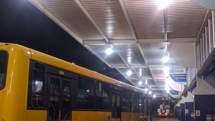 """Terminal Urbano de Transporte Coletivo """"Patrãozinho"""", recebe nova iluminação"""
