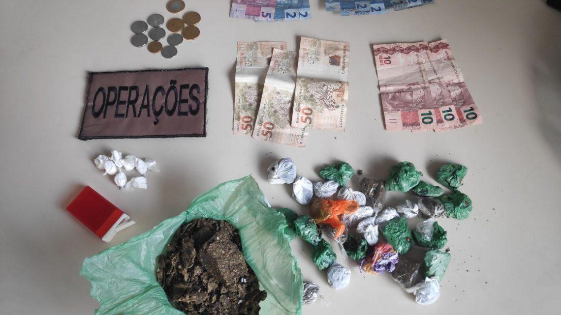 Dupla é detida por tráfico de drogas no loteamento expoente em Chapecó