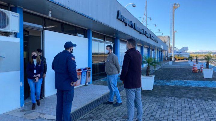 Chapecó reforça medidas sanitárias no aeroporto