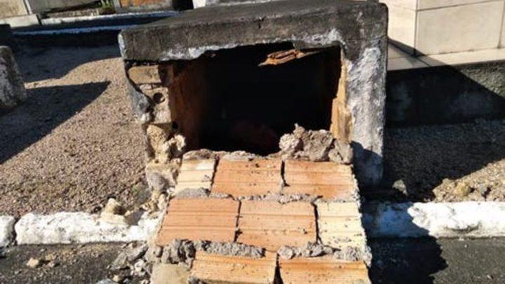 Sete túmulos de crianças são violados em cemitério de SC
