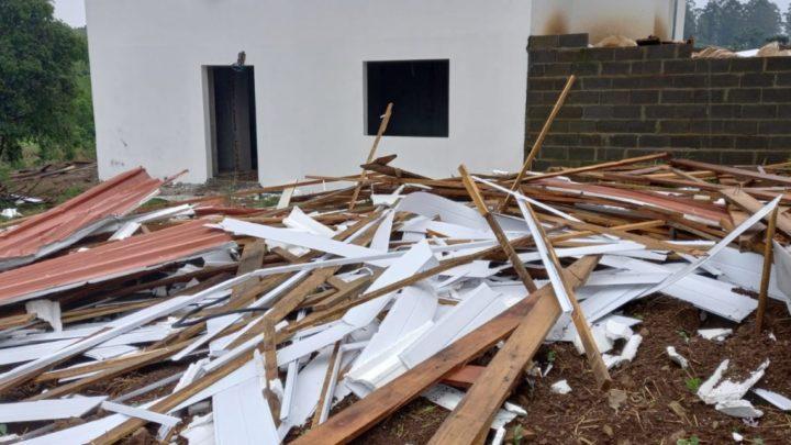 Tornado FO é registrado no interior de Chapecó