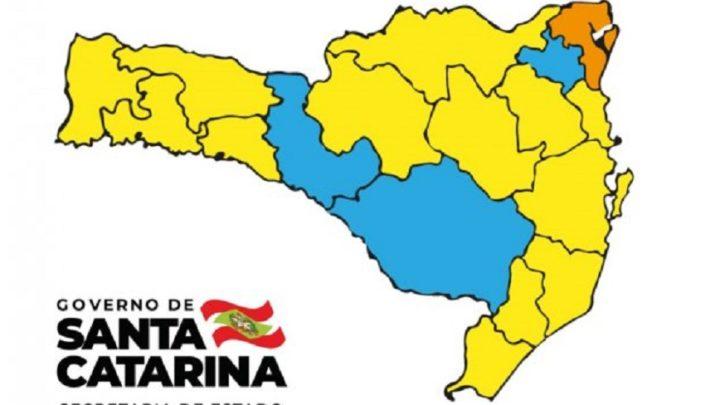Matriz aponta apenas uma região em estado grave em SC
