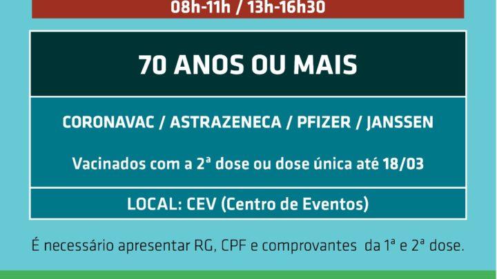Chapecó iniciará dose de reforço da vacina na próxima semana