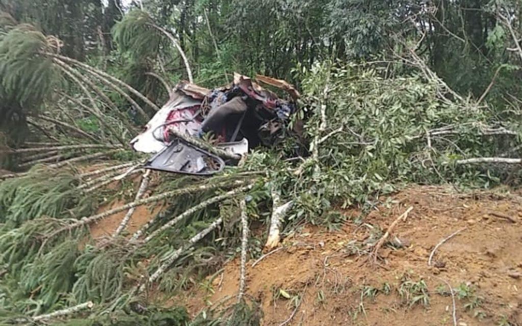 Três pessoas morrem em grave acidente na BR-280 em SC