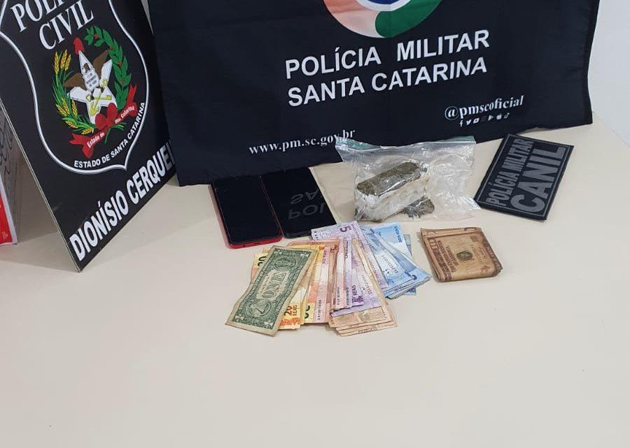 Polícia Civil e Polícia Militar prendem homem por tráfico de drogas em Dionísio Cerqueira
