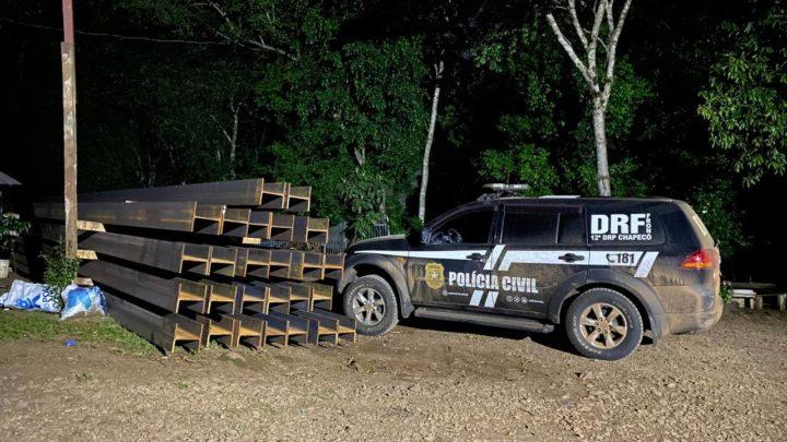 Polícia Civil recupera carga avaliada em R$ 300.000,00 e prende em flagrante três indivíduos em Chapecó